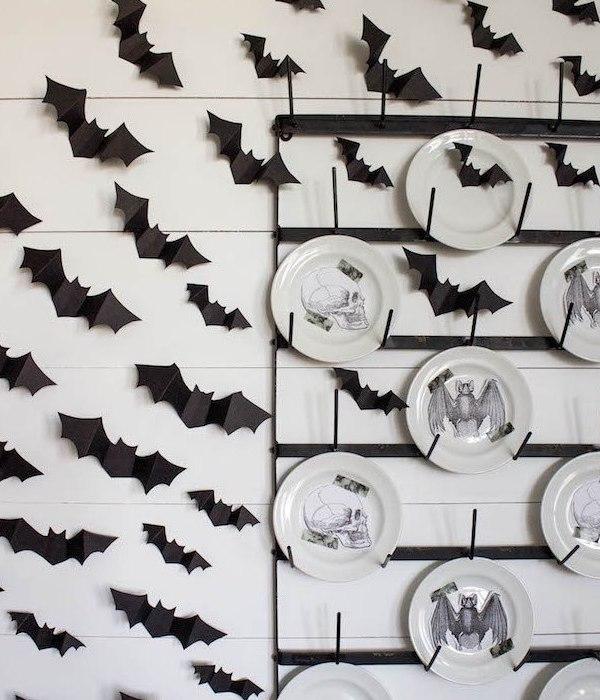 DIY Halloween Bat Wall – Shiplap & Bats Oh My!