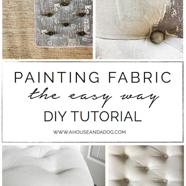 Painting Fabric, the Easy Way - DIY Tutorial | designedsimple.com