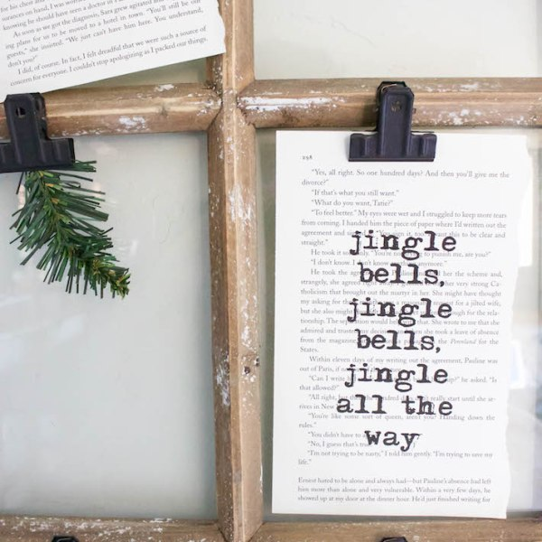 Christmas Book Art with FREE Printables | designedsimple.com