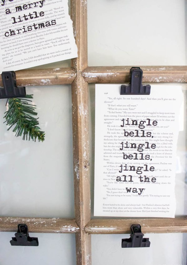 Christmas Book Art & A Touch of Farmhouse Charm