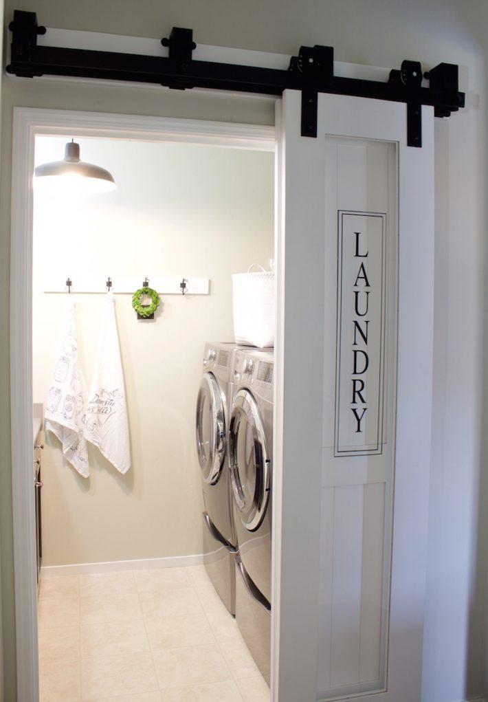 Laundry Room Barn Door Designed Simple