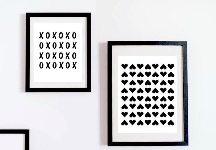 FREE Modern Valentine Printables | designedsimple.com