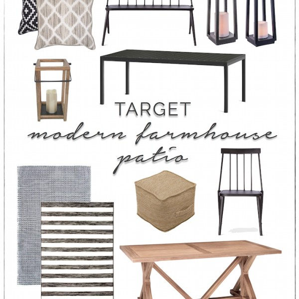 Modern Farmhouse Patio Furniture + Decor from Target | designedsimple.com