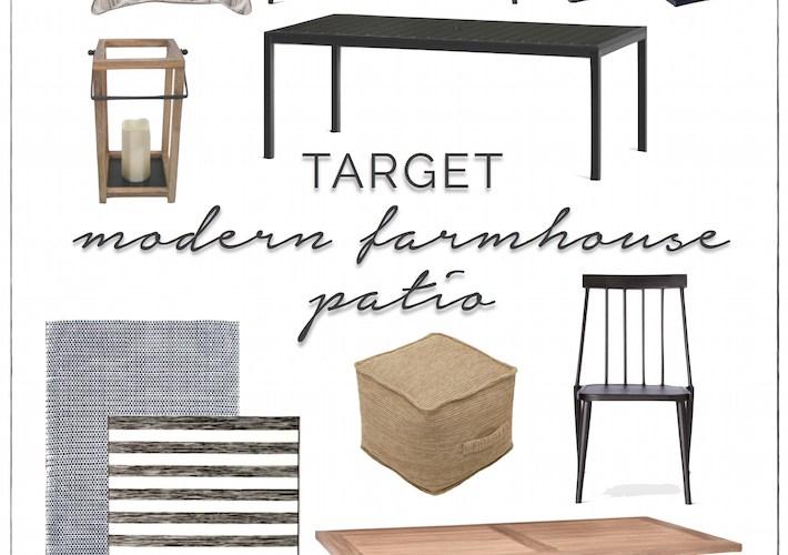Modern Farmhouse Patio Furniture + Decor from Target | designedsimple.com