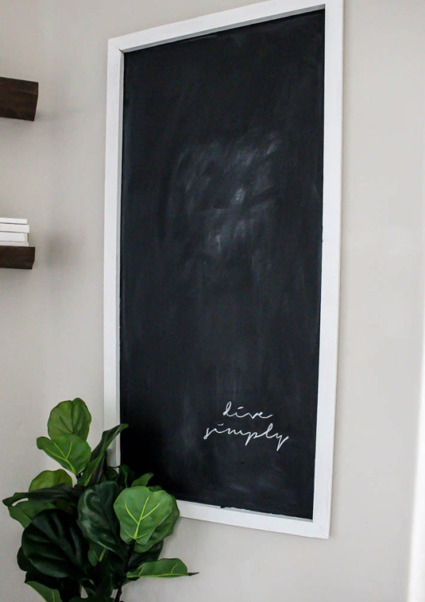 Easy DIY Modern Farmhouse Chalkboard