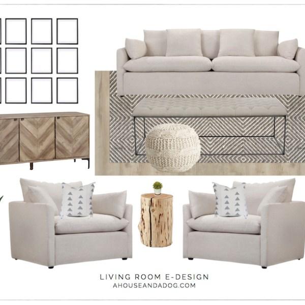 Living Room e-Design with Joss & Main | designedsimple.com