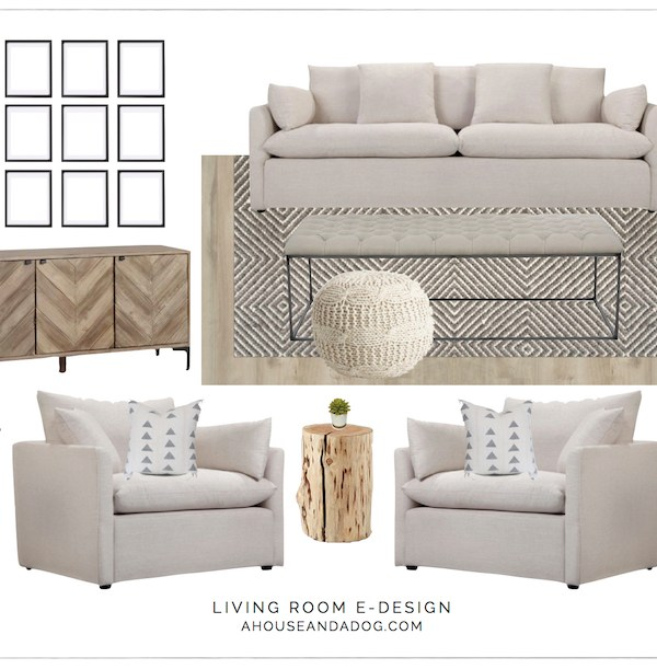 Living Room Design with Joss & Main