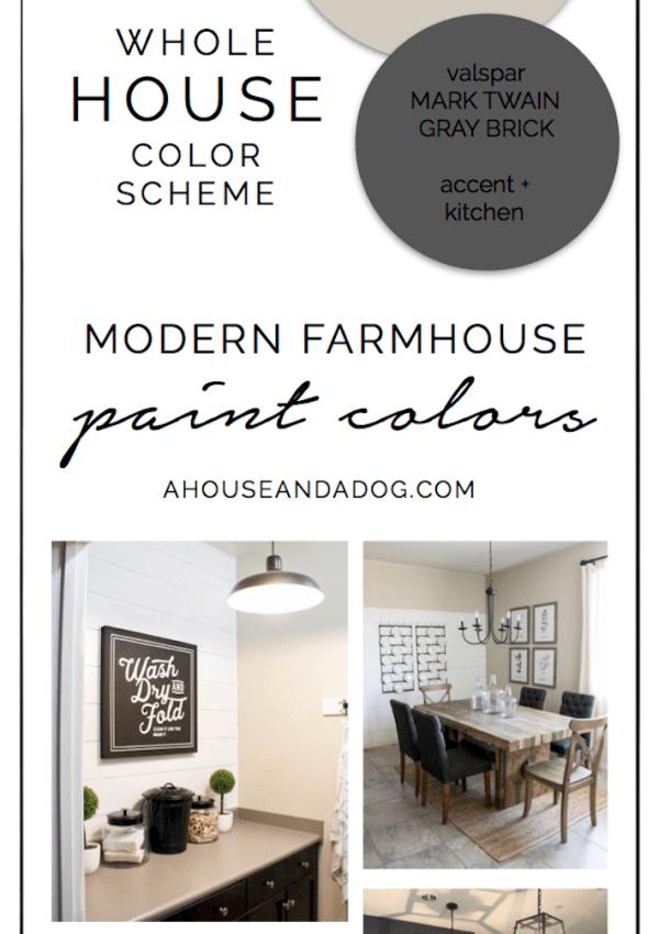 Whole House Color Scheme – Paint Colors