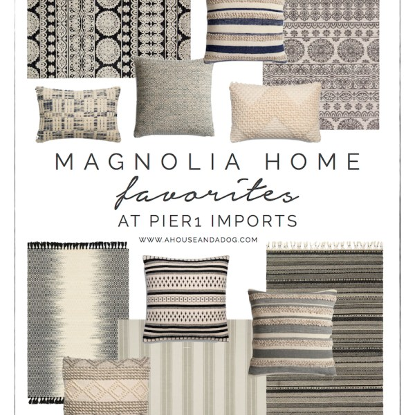 Magnolia Home Rugs + Pillows at Pier 1 Imports | Joanna Gaines | Fixer Upper Style | designedsimple.com