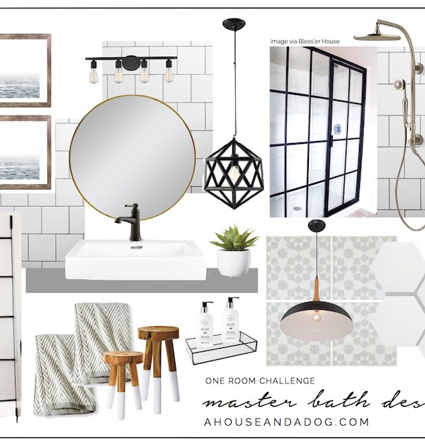 One Room Challenge – Master Bath: Week 1 – Design & Before Photos