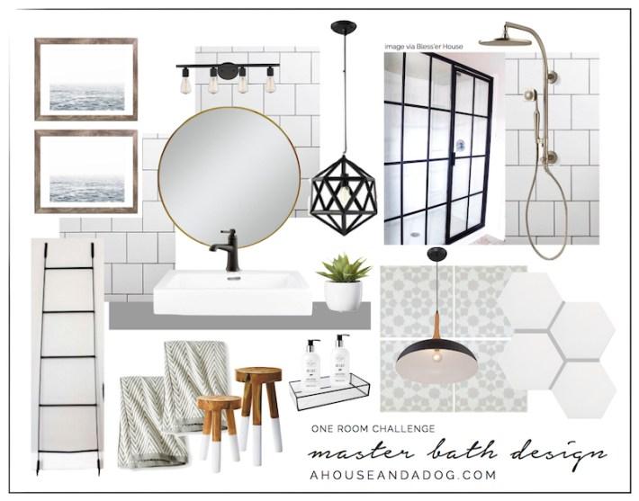 One Room Challenge Master Bath Design   designedsimple.com
