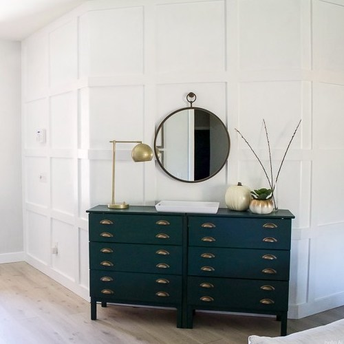 DIY Paneled Wall for less than $80