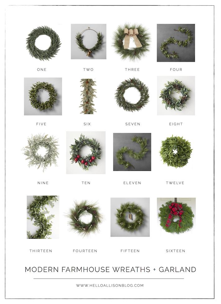 Modern Farmhouse Christmas Wreaths   designedsimple.com
