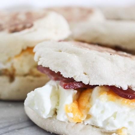 Easy + Freeze Breakfast Sandwiches