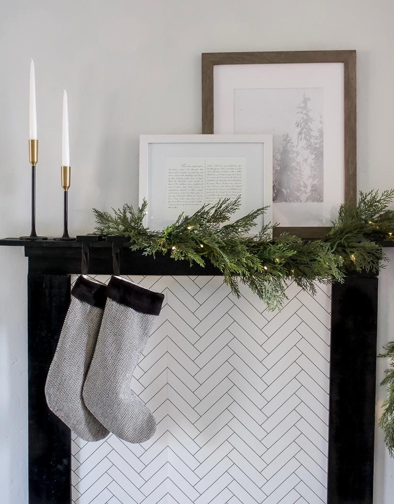 DIY Faux Fireplace Mantel   designedsimple.com