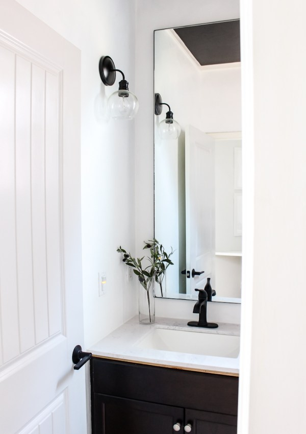 Budget Friendly Guest Bath Update | One Room Challenge Week 5