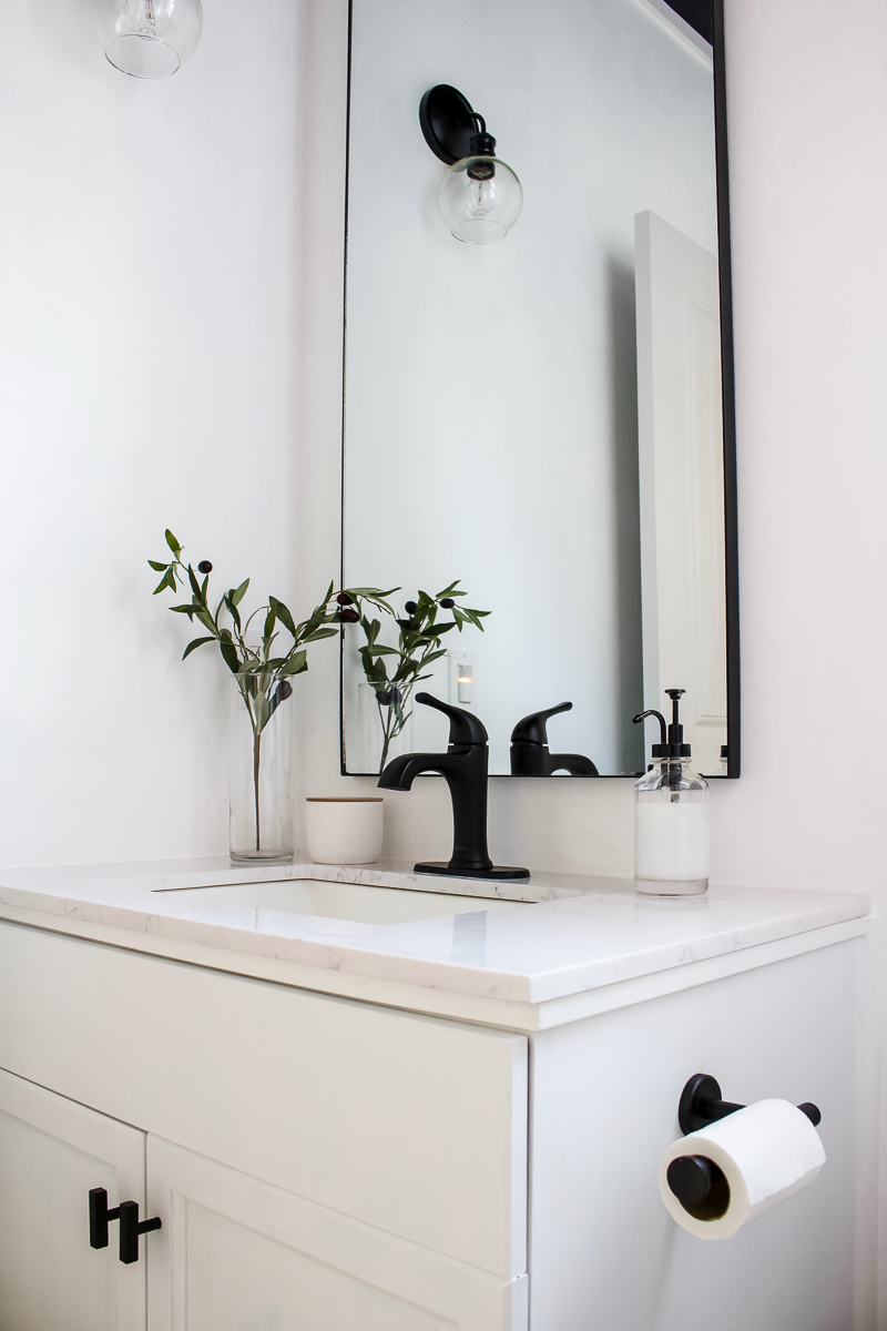 Designed Simple Guest Bathroom Sources | Shop the House | Guest Bath | designedsimple.com