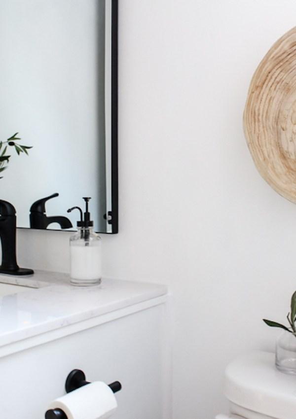 Budget Friendly Guest Bath Reveal