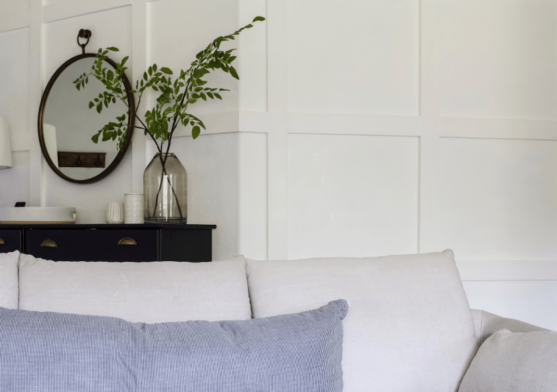 Make your house look custom and beautiful all on its own. I'm sharing all my favorite tips on how to decorate your home without stuff! | Designed Simple | designedsimple.com