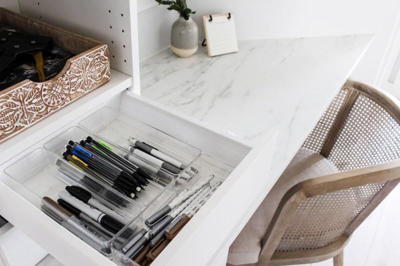Designed Simple House Tour | Small Home Office | designedsimple.com