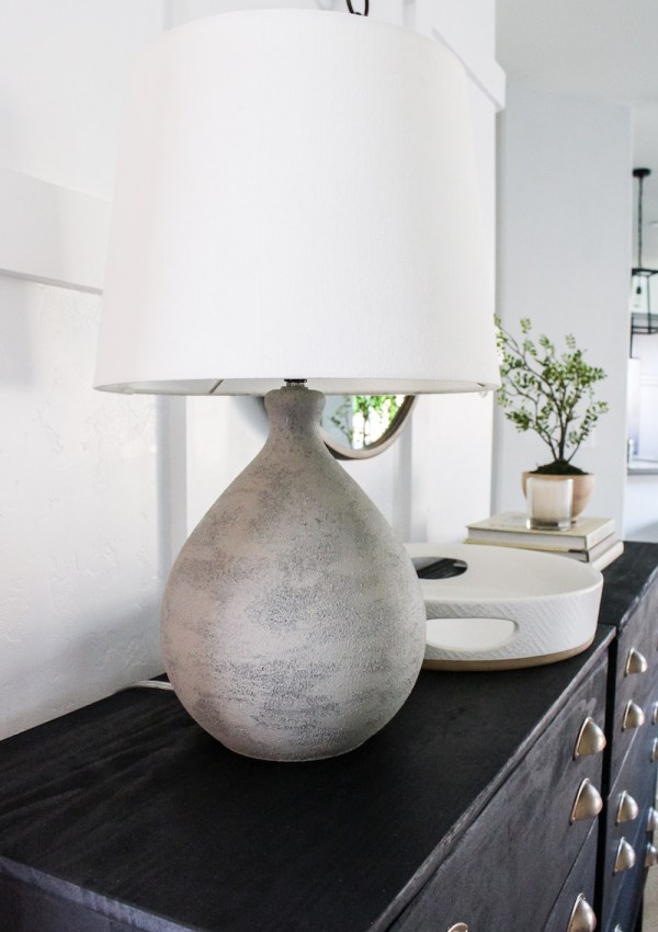 DIY Faux Cement Lamp