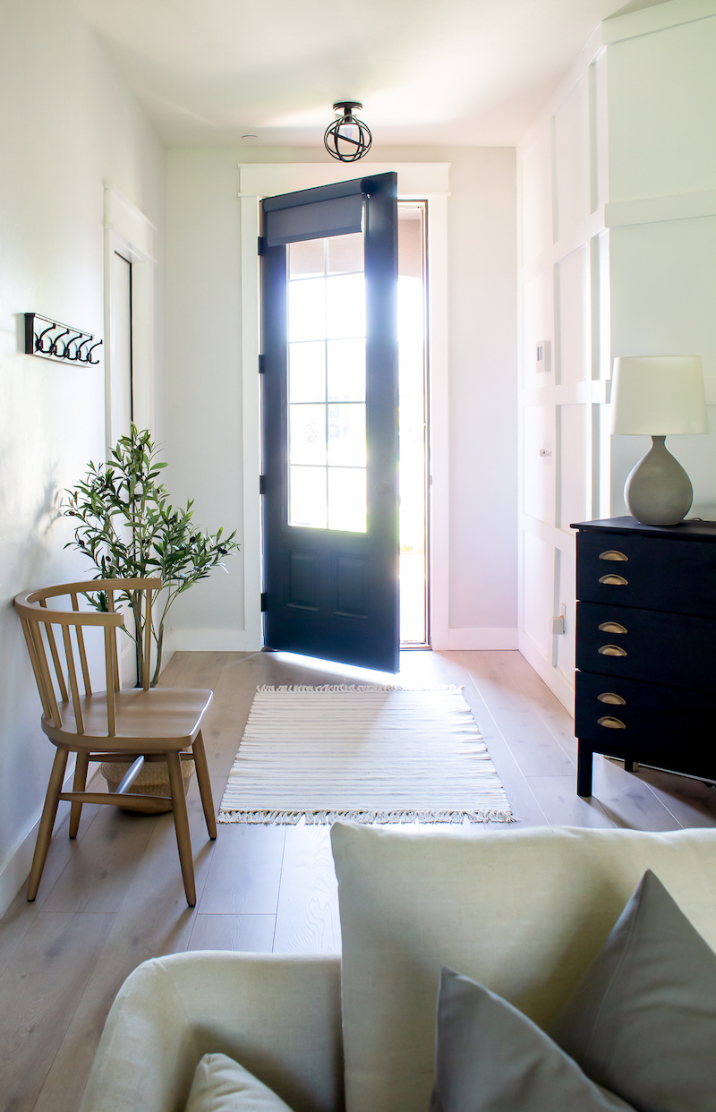 Simple Entryway Decor | Everything we need for functionality and beauty! | Designed Simple | designedsimple.com