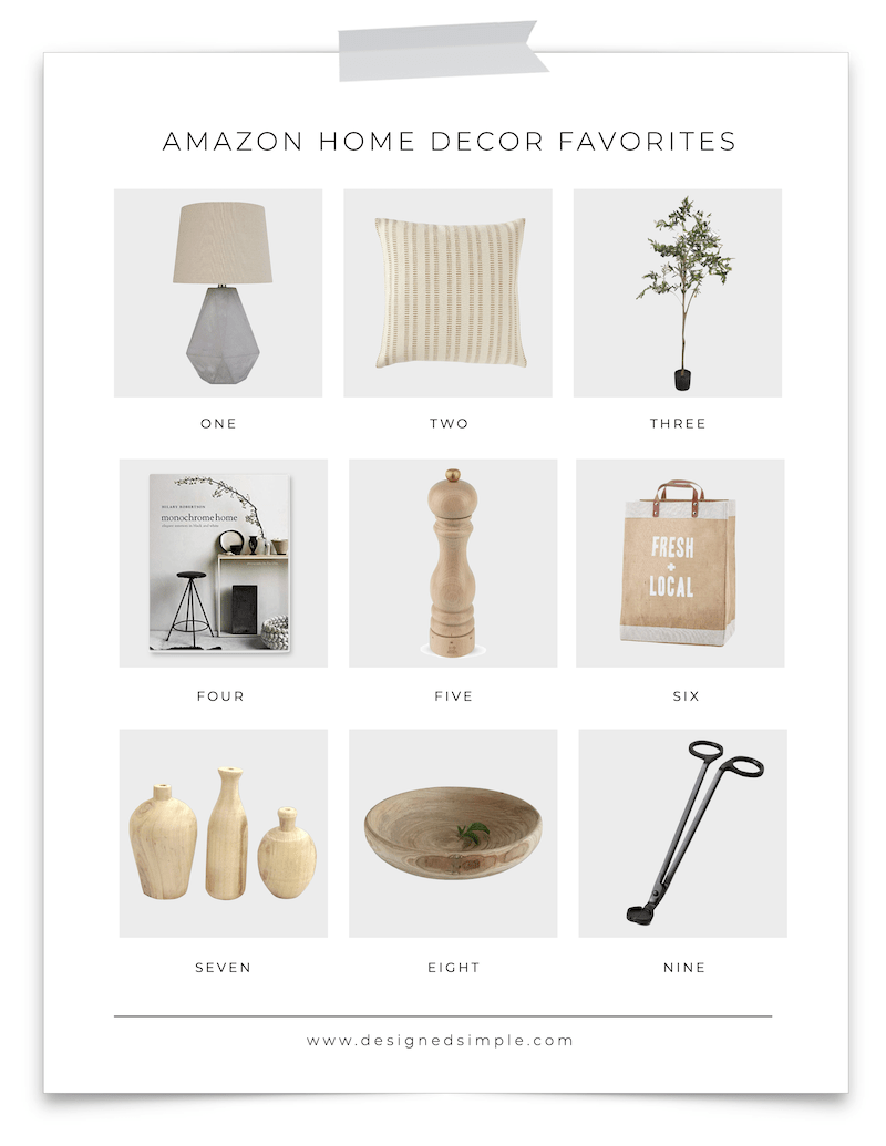 Amazon Home Decor Favorites | Sharing all my top picks from home decor, kitchen accessories, and stylish organization! | Designed Simple | designedsimple.com