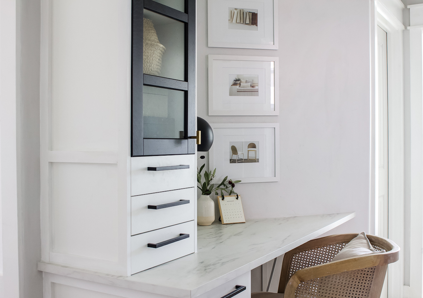 Home Office With Built In Ikea Cabinets, Living Room Storage Cupboards Ikea