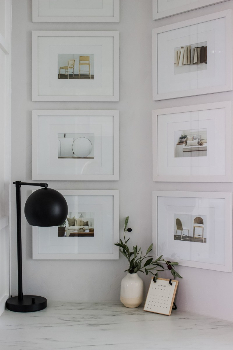 Small Home Office with Built-In Ikea Cabinets | Create tons of storage in a small space with this Ikea hack! | Designed Simple | designedsimple.com