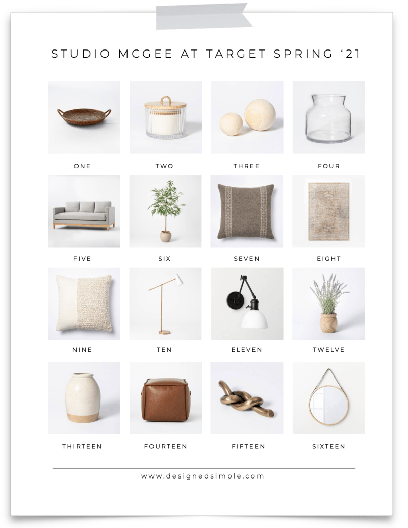 Sharing all my favorite new items from the Studio McGee at Target spring collection! Beautiful, trendy, and affordable - check it out! | Designed Simple | designedsimple.com