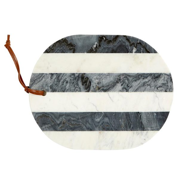 SHOP NOW! This gray & white marble board is stylish and sophisticated - display in the kitchen or create a beautiful tablescape for a party. | Designed Simple