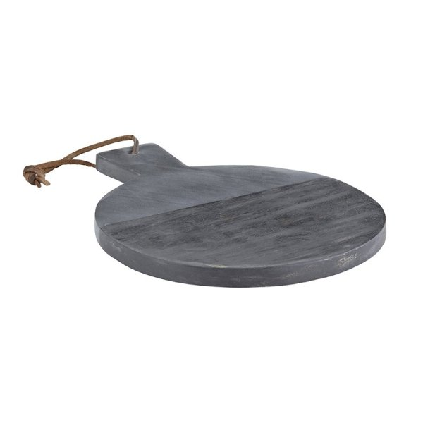 SHOP NOW! Add style to your kitchen with this black marble & wood board - perfect for display on the kitchen counter or hosting!  Designed Simple