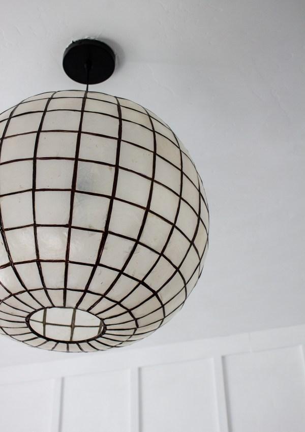 DIY Capiz Shell Pendant