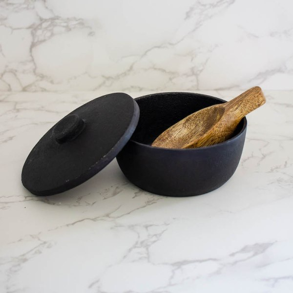 SHOP NOW! This mango wood scoop is skillfully carved, naturally unique and so versatile. Use it in the kitchen, laundry room, or bath.| Designed Simple