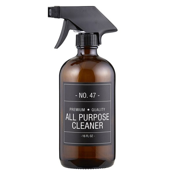 SHOP NOW - This stylish amber glass all purpose cleaner bottle features a simple sophisticated label. Just add your favorite cleaner! | Designed Simple