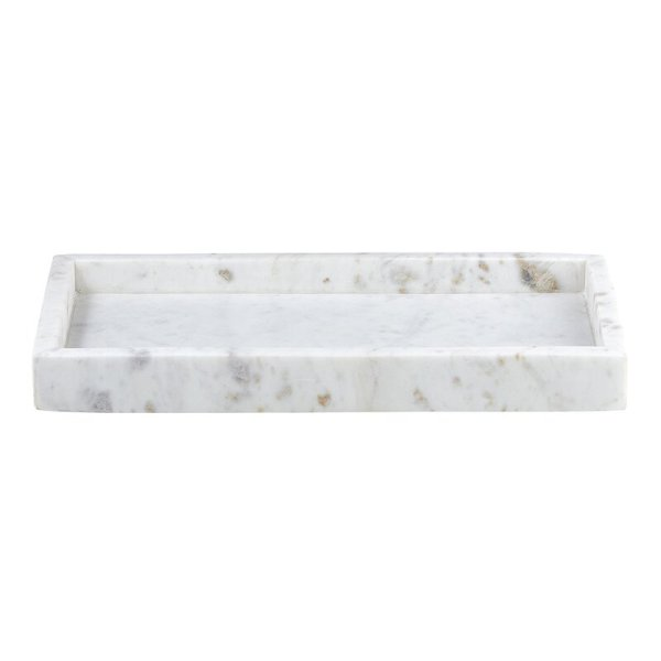 SHOP NOW - This rectangle marble tray is made of solid marble & makes a perfect vessel for soaps, bottles, and more in your kitchen or bath.   Designed Simple