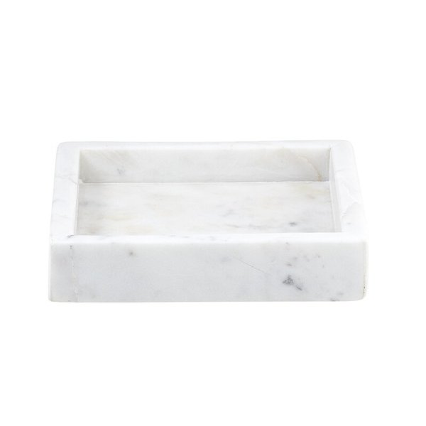SHOP NOW - This square marble tray is made of solid marble and makes a perfect vessel for soaps, bottles, and more.   Designed Simple
