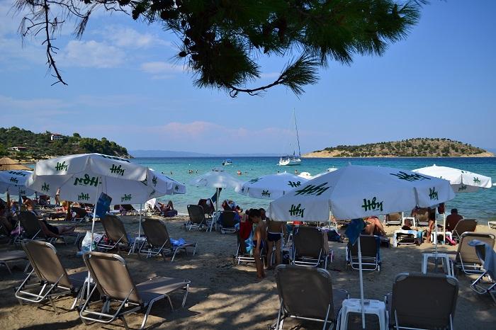 Plaje frumoase din Halkidiki - Lagonisi