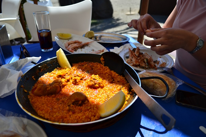 Andaluzia - paella in Malaga