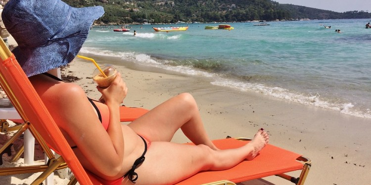 Golden Beach, Thassos – una dintre cele mai populare plaje de pe insulă