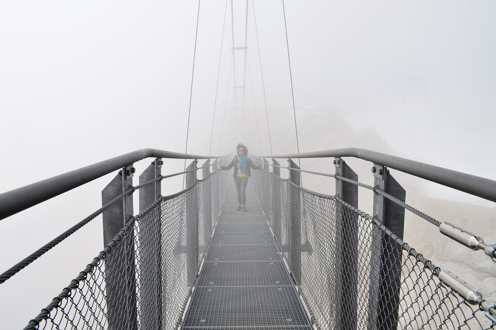 Aventuri la înălţime în Austria - Dachstein Glacier - Suspension Bridge