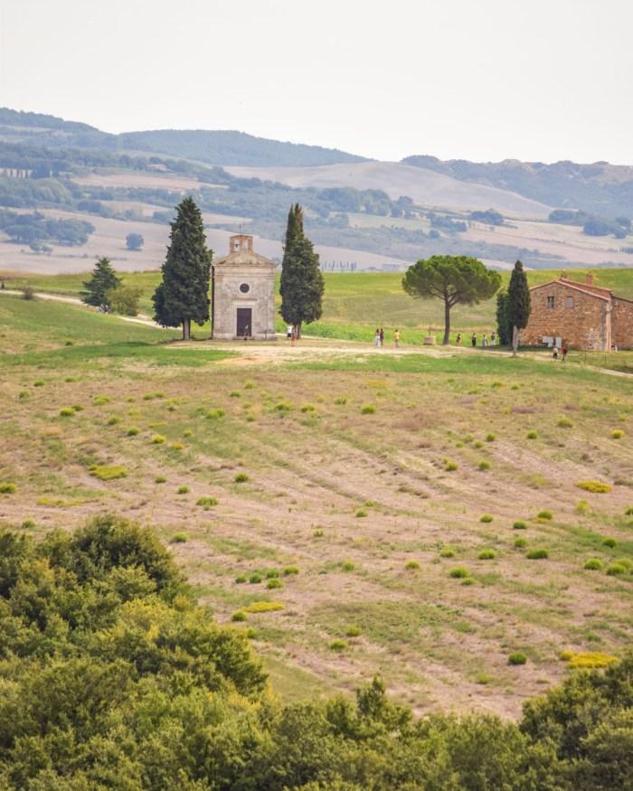 Cappella Madonna di Vitaleta, Val d'Orcia, Toscana,