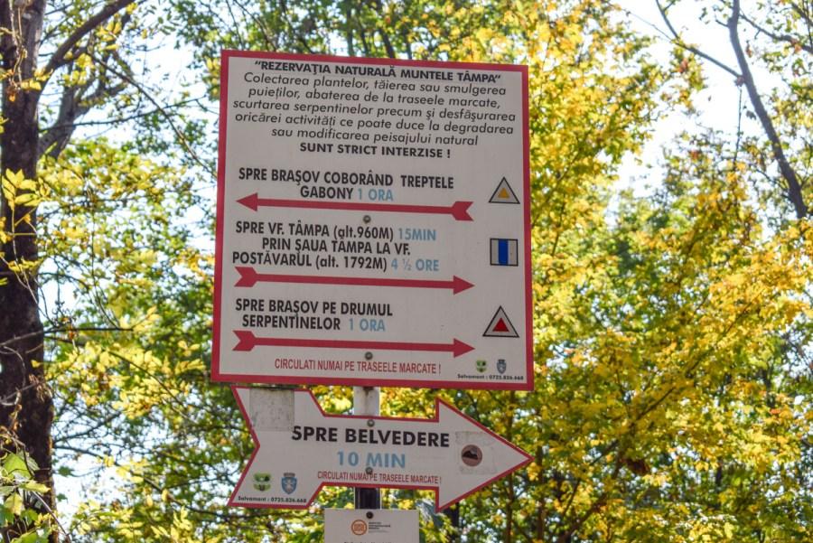 Brașov - obiective de vizitat - Belvedere pe muntele Tampa