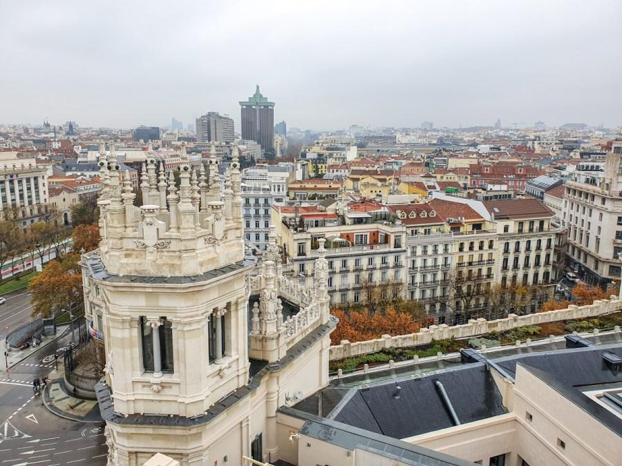 Priveliste de pe Palacio Cibeles, Madrid