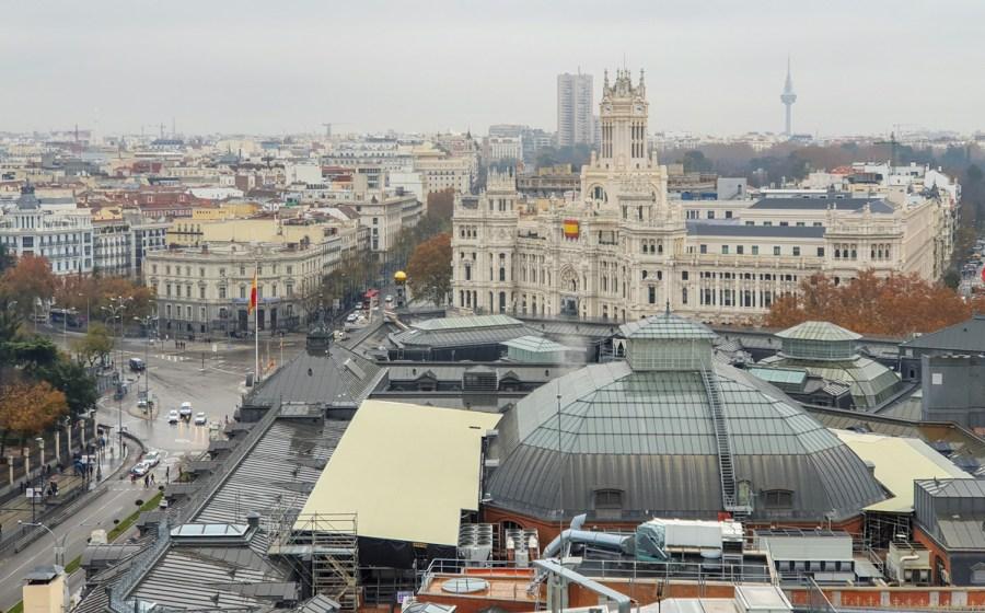 Priveliste de la Circulo des Bellas Artes, Madrid