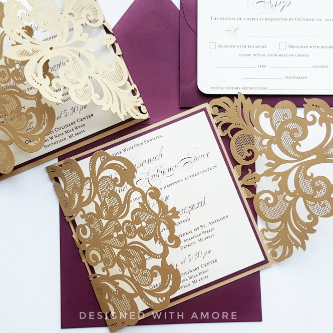 Best Blush Pink Ivory And Gold Fl Wedding Invitation