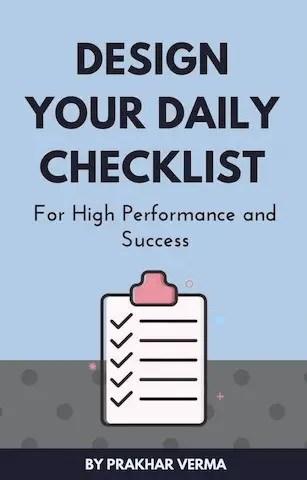 Daily Success Checklist | Design Epic Life | Prakhar Verma