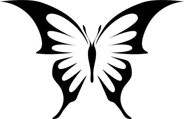 Butterfly kanssa teräviä siivet
