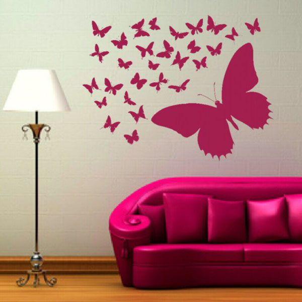 Valitse perhosten väri sisätiloissasi
