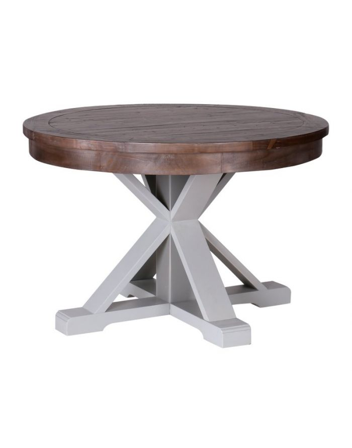 hampton grey painted shabby chic round dining table